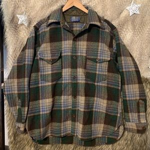 Vintage Pendleton Plaid Wool Button Down Shirt